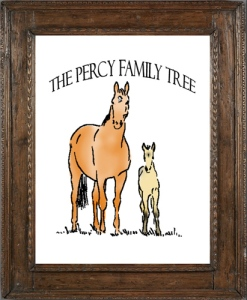 framed percy tree 500