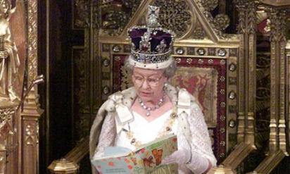 The Queen Reading